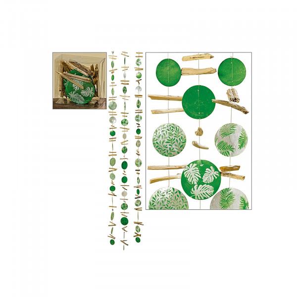 HTI-Living 3fach sortiert Capiz-Girlande Blatt L180cm Natur
