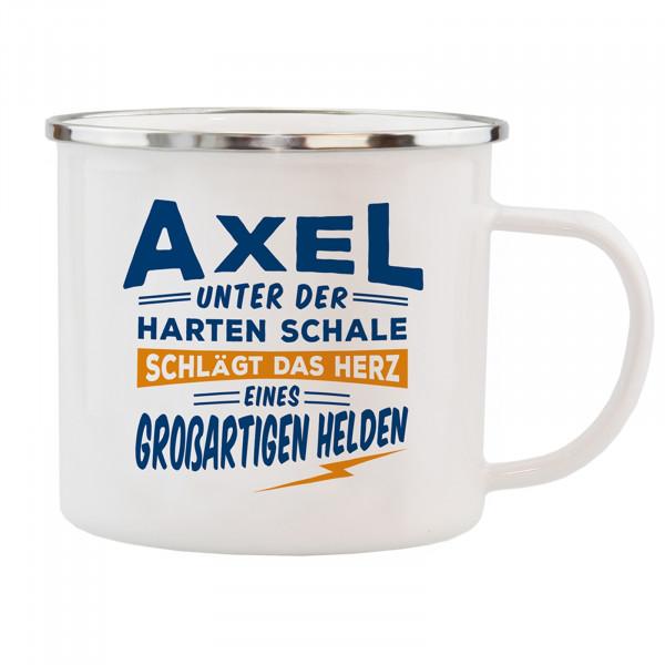 HTI-Living Axel Echter Kerl Emaille Becher