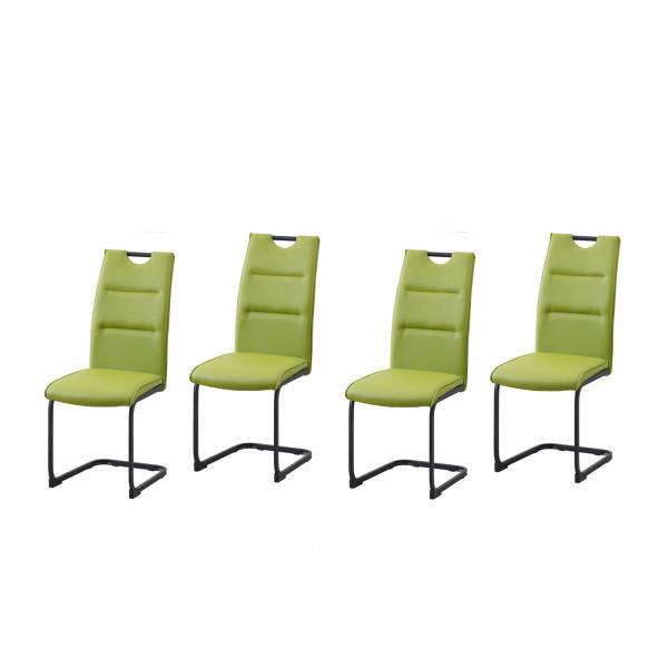 HTI-Line DannyP Schwingstuhl 4er Set PU grün