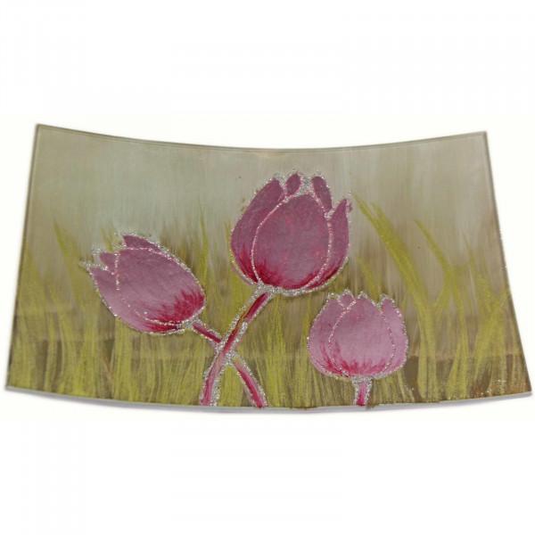 HTI-Living Tulpe Rosa Dekoplatte