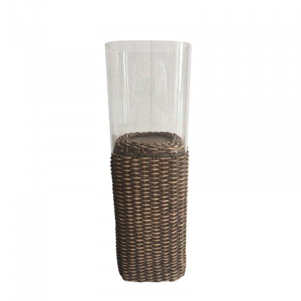 HTI-Line Rattan Teelichthalter