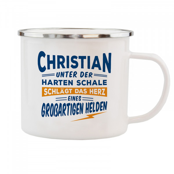 HTI-Living Christian Echter Kerl Emaille Becher