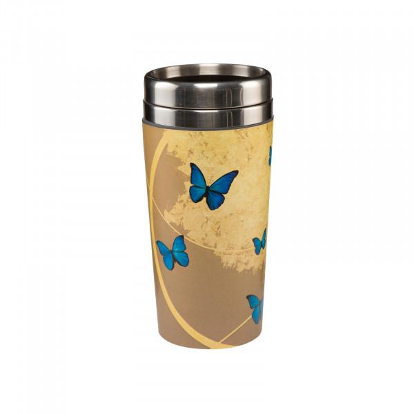 Goebel Artis Orbis Blue Butterflies Mug To Go