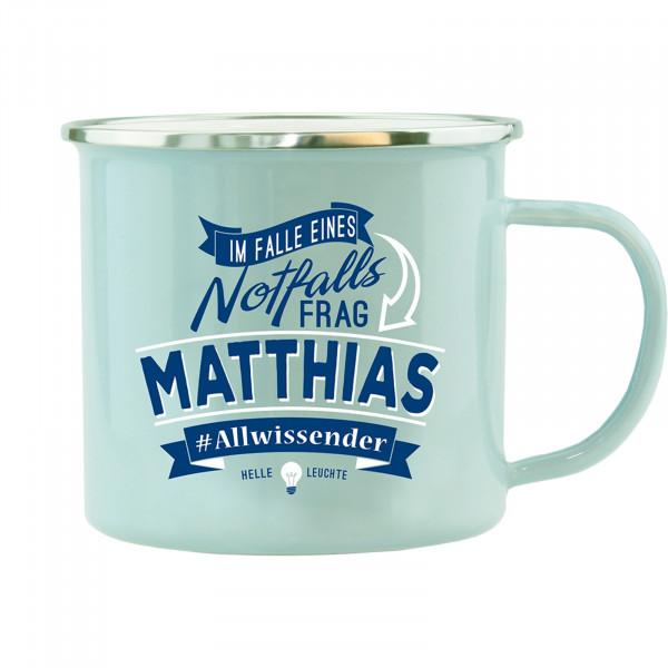 HTI-Living Matthias Echter Kerl Emaille Becher