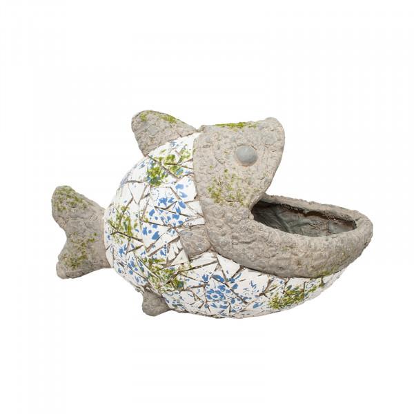 HTI-Line Fisch Pflanzgefäß Mosaik