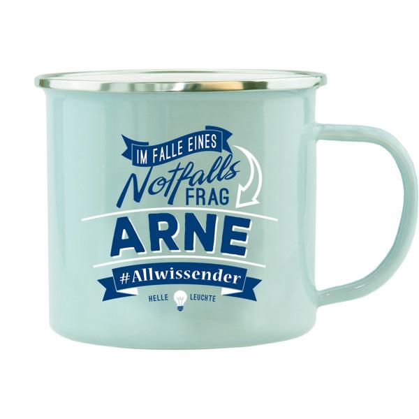 HTI-Living Arne Echter Kerl Emaille Becher