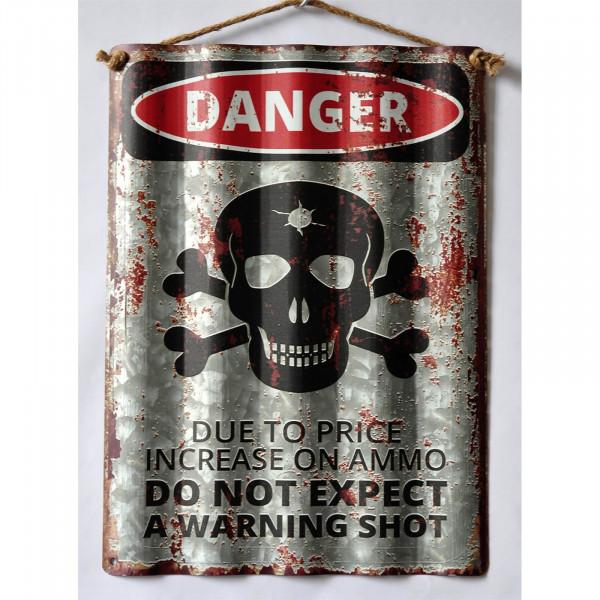 HTI-Line Danger Blechschild