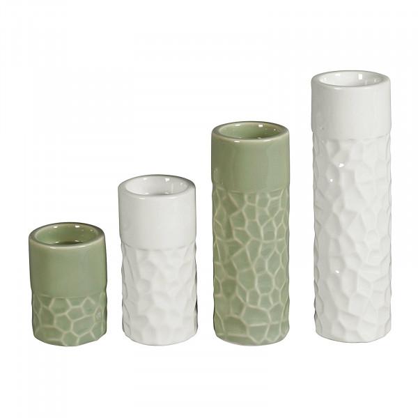 HTI-Living 4er Set Teelichthalter Porzellan