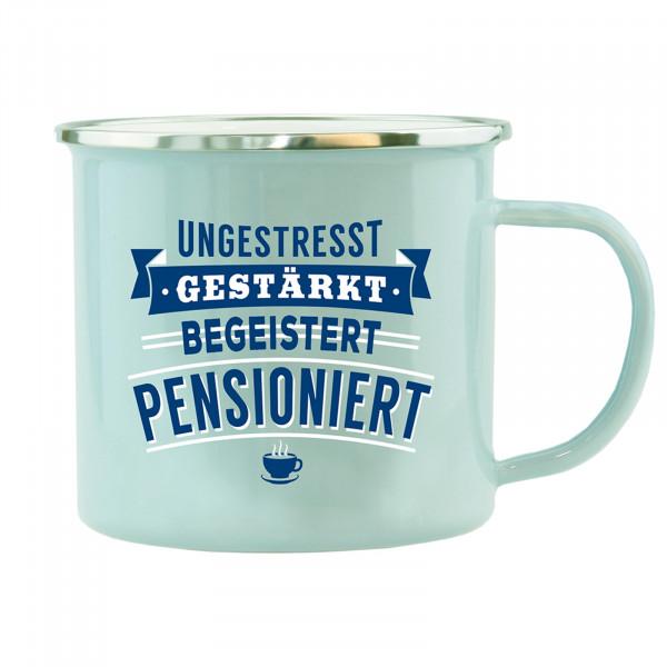 HTI-Living Pensioniert Echter Kerl Emaille Becher