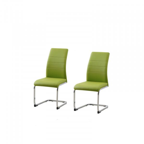 HTI-Line SallyC Schwingstuhl 2er Set PU grün