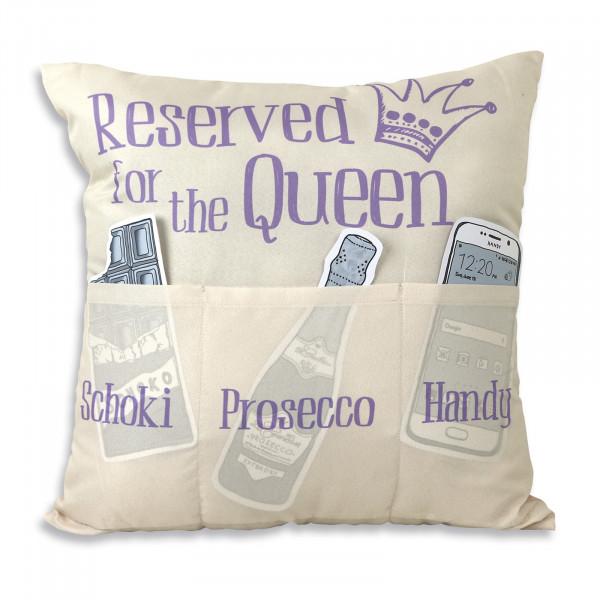 HTI-Living Reserved for the Queen Kissen mit Taschen