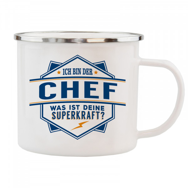 HTI-Living Chef Echter Kerl Emaille Becher