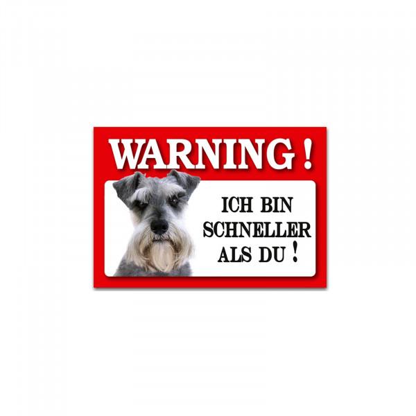 HTI-Line Schnauzer Blechschild Wachhund