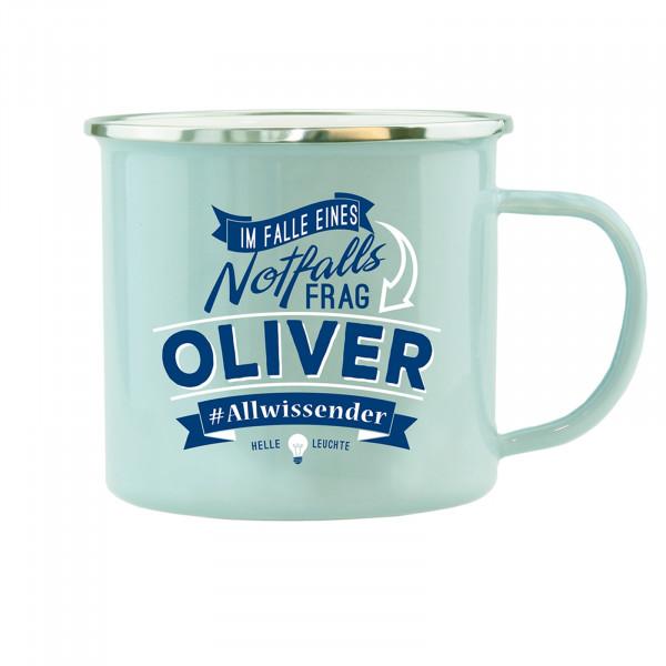 HTI-Living Oliver Echter Kerl Emaille Becher
