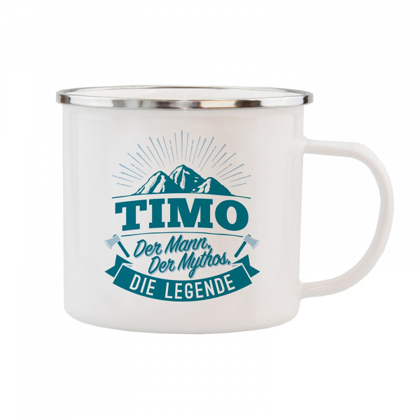 HTI-Living Timo Echter Kerl Emaille Becher