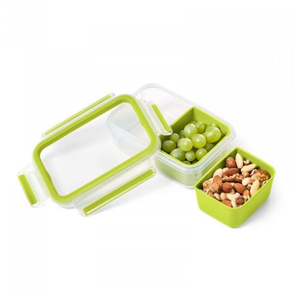 Emsa Clip Go Snackbox mit 2 Einsätzen