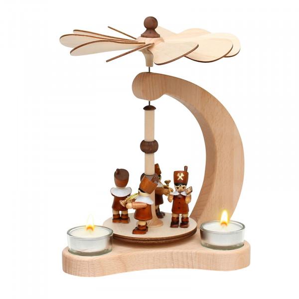 SIGRO Bergleute Holz Teelicht-Tischpyramide