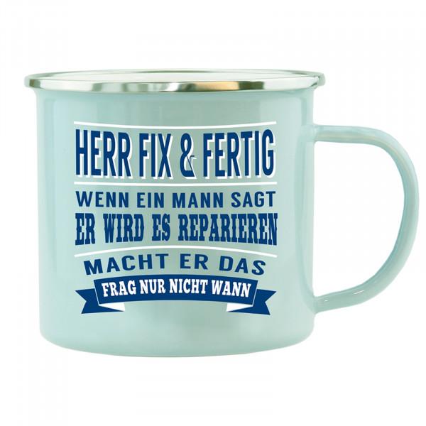 HTI-Living Herr Fix Fertig Echter Kerl Emaille Becher