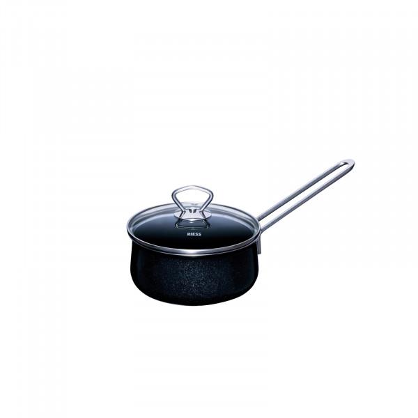 Riess Black Magic Stielkasserolle mit Glasdeckel