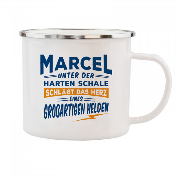 HTI-Living Marcel Echter Kerl Emaille Becher