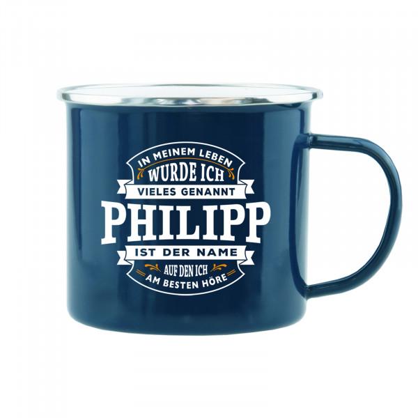 HTI-Living Philipp Echter Kerl Emaille Becher