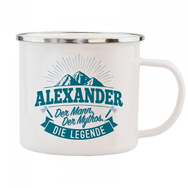 HTI-Living Alexander Echter Kerl Emaille Becher