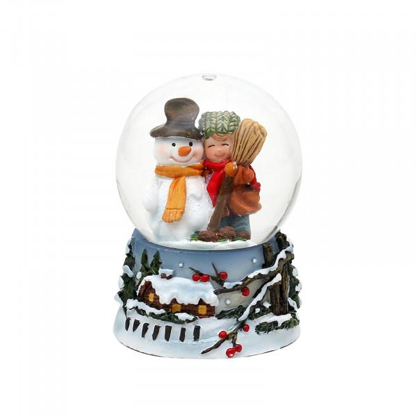 Sigro Schneemann mit Kind Schneekugel