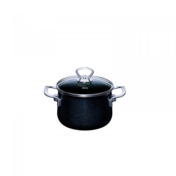 Riess Black Magic Fleischtopf mit Glasdeckel