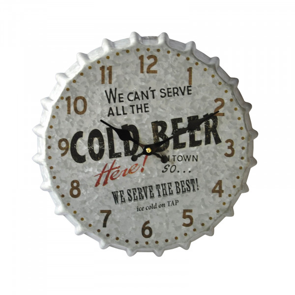 HTI-Line Cold Beer Wanduhr